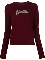 Alexander Lewis Intarsia Knit Sweater Red