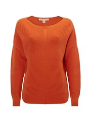 White Stuff Eastside Textured Jumper Orange