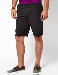 Asos Chino Shorts In Longer Length Black