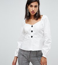 River Island Blouse With Button Front In White