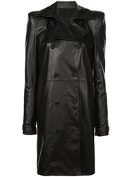 Unravel Project Double Breasted Coat Black