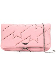 Zadig And Voltaire Rock Clous Studded Clutch Pink