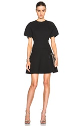 Giambattista Valli Crepe Silk Cotton T Shirt Dress In Black