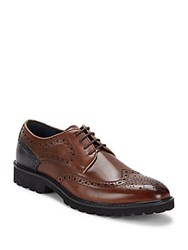 Steve Madden Wingtip Lace Up Oxfords Tan