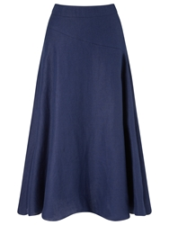 John Lewis Capsule Collection Cut About Linen Skirt Navy