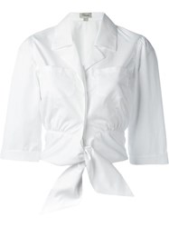 Temperley London 'Payton' Tie Front Shirt White