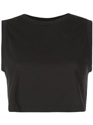Re Done Cropped Tank Top Black