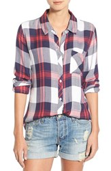 Rails Women's 'Hunter' Plaid Shirt White Indigo Blush