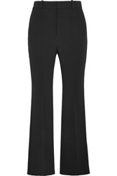 Chloe Crepe Flared Pants Black