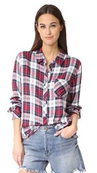 Rails Hunter Button Down Shirt Patriot Scarlet White