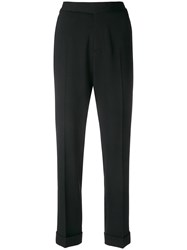 Tom Ford Cropped High Waist Trousers Black