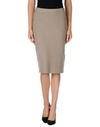 Ralph Lauren Black Label Knee Length Skirts Grey