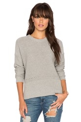 Autumn Cashmere Boxy Crew Sweater Gray