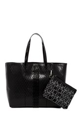 L.A.M.B. Jinger Leather Tote And Pouch Black