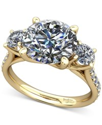 Macy's Diamond Ring Mount 1 2 Ct. T.W. With Claw Set Diamond Accents In 14K Gold Yellow Gold