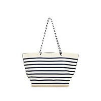 Altuzarra Espadrille Large Striped Leather Tote Bag Blue White