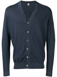 Eleventy V Neck Cardigan Blue