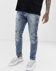 G Star Elwood Skinny Fit Jeans In Medium Aged Blue