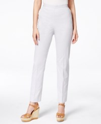 Alfred Dunner Petite Striped Mid Rise Trousers