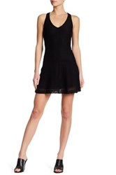 David Lerner Peplum Sleeveless Dress Black