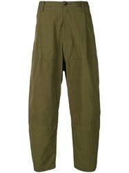 Ziggy Chen Cropped Trousers Green