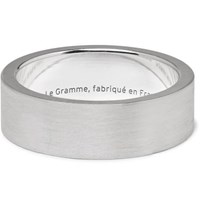 Le Gramme 11 Brushed Sterling Silver Ring Silver