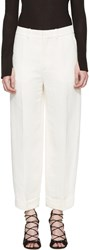Chloe Ivory Cuffed Trousers