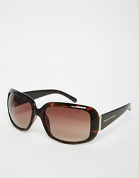 French Connection Oversize Square Sunglasses Brown