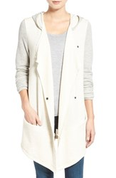 Women's Caslon Colorblock Hooded French Terry Jacket