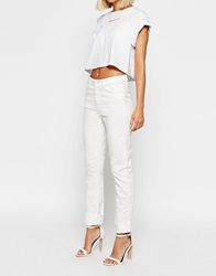 Weekday Issue Straight Leg Jeans White