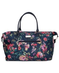 Jessica Simpson French Floral Duffel Bag Navy