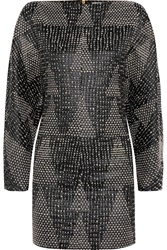 Vionnet Wool Blend Jacquard Mini Dress Black