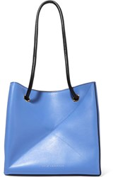 Victoria Beckham Cube Small Two Tone Leather Shoulder Bag Blue