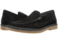 Hush Puppies President Mercer Black Suede Slip On Shoes