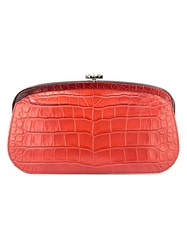 Chanel Vintage Embossed Clutch Red
