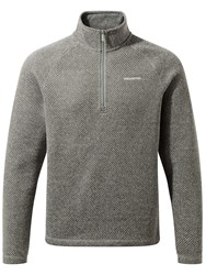 Craghoppers Men's Mason Half Zip Fleece Grey Space Dye
