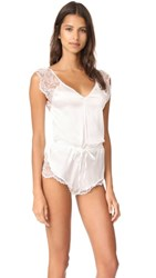 Else Lingerie Silk And Lace Romper Ivory