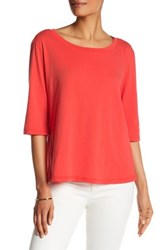 Michael Stars Elbow Length Sleeve Tee Red