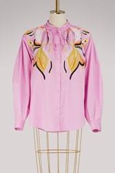 Emilio Pucci Popeline Embroidered Shirt Pink