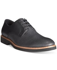 Alfani Glen Mixed Material Plain Toe Derby Oxfords Only At Macy's Men's Shoes Black