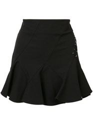 Derek Lam 10 Crosby Laced Detail Mini Skirt Black