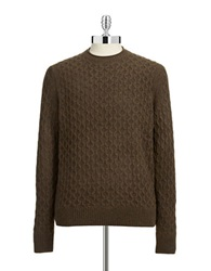 Black Brown Cableknit Lambswool Sweater Chocolate