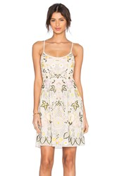 Needle And Thread Embroidery Embellished Floral Prom Dress Beige