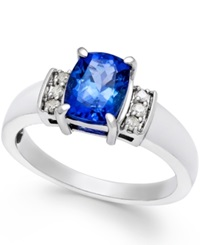 Macy's Tanzanite 1 3 4 Ct. T.W. And Diamond 1 10 Ct. T.W. Ring In 14K White Gold