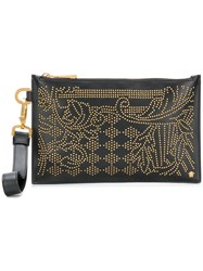 Versace Embellished Clutch Black
