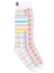 Thom Browne 4 Bar Stripe Jacquard Knee Socks 60