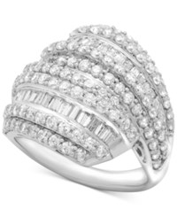Wrapped In Love Diamond Layered Cluster Ring 2 Ct. T.W. Sterling Silver Created For Macy's