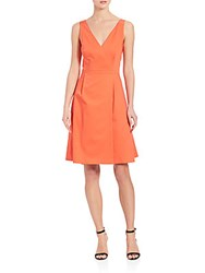 Boss Degina Stretch Cotton Dress Orange