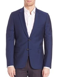 Paul Smith Two Button Wool Blend Sportcoat Navy