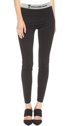 Alexander Wang High Density Luxe Ponte Leggings Black